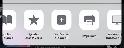 Apple iOS Accueil PWA