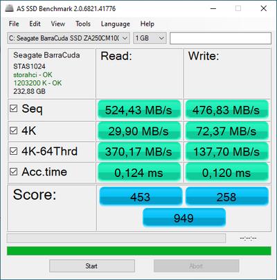 AS-SSD PCSpecialist Aurora