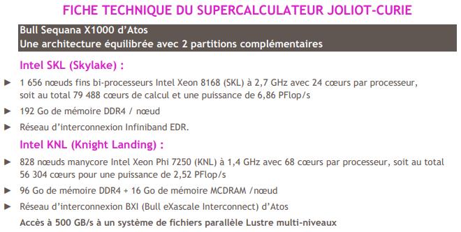 Joliot-Curie supercalculateur