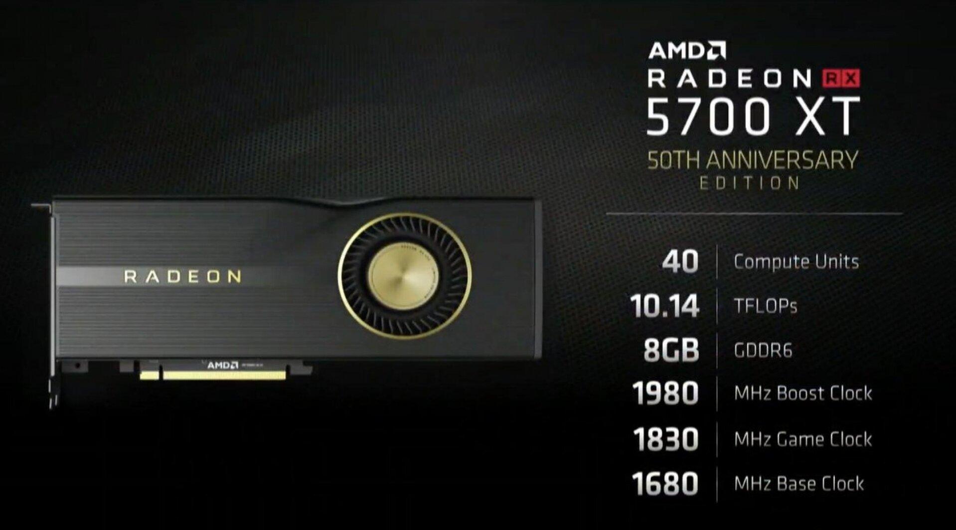 Radeon 5700 XT 50 ans