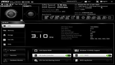 UEFI B450 Zen 2 MSI