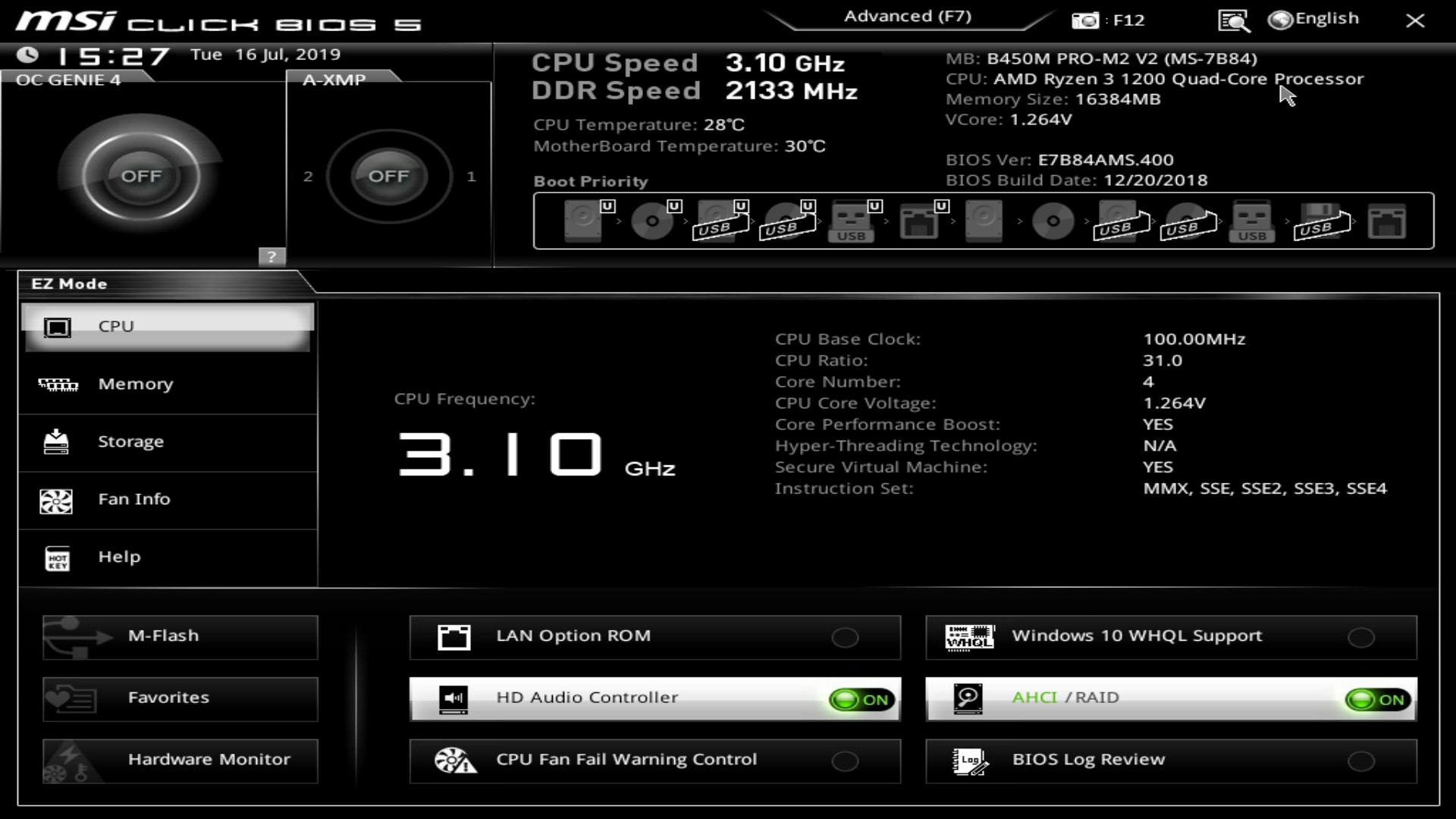 Chipsets AMD de série 300/400 : AGESA 1 0 0 3 et BIOS allégé chez