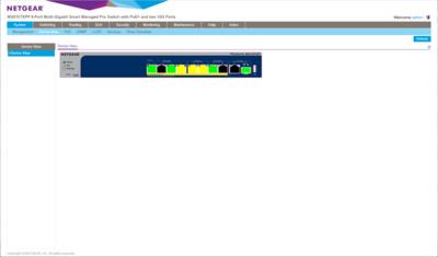 Interface Netgear Switch MS510TXPP