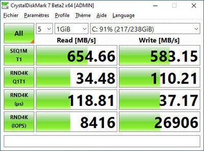 CrystalDiskMark 7.0 Bêta 2