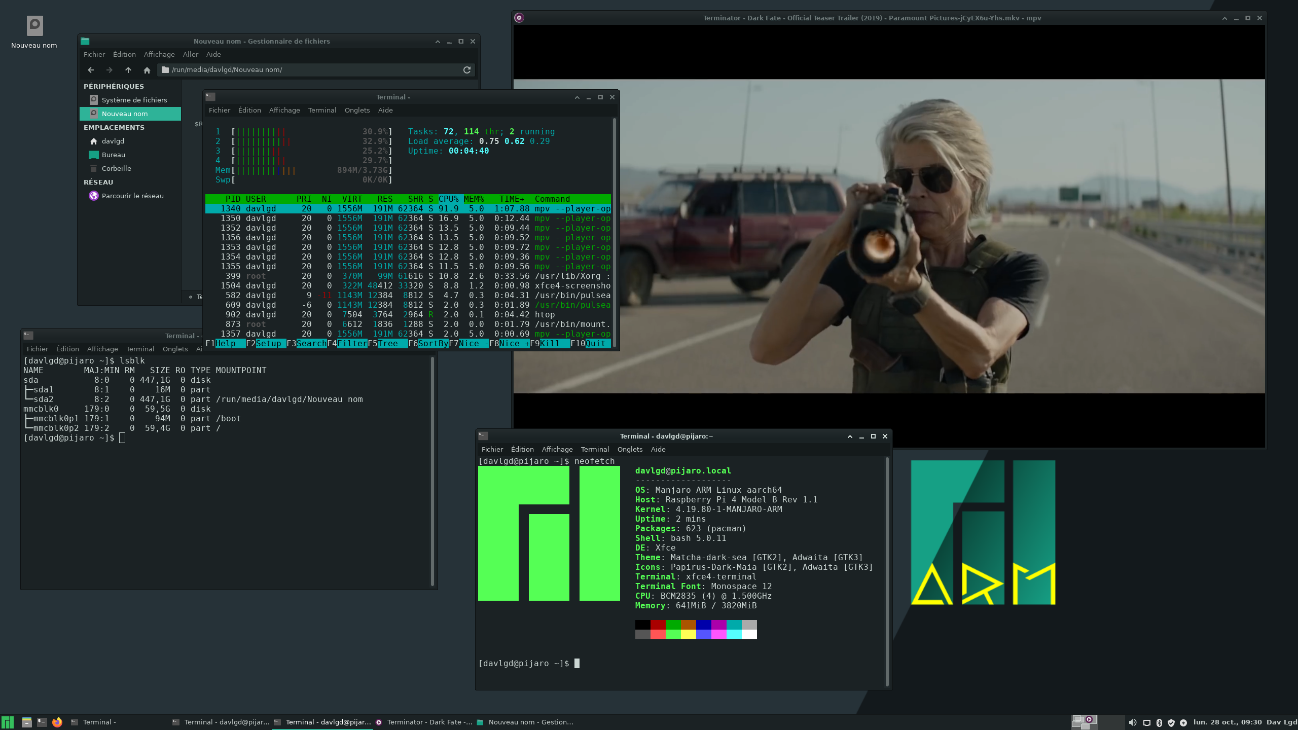 Manjaro ARM 19.10 Raspberry Pi 4