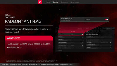 AMD Radeon Adrenalin 2020 Fonctionnalités