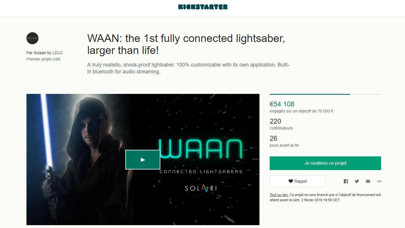 LDLC WAAN Solaari Sabre Star Wars