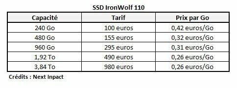 Tarifs IronWolf 110