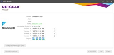 Netgear ReadyNAS OS 6.10 RAIDar