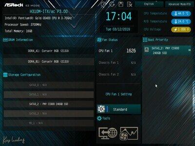 ASRock H310M-ITX/ac UEFI