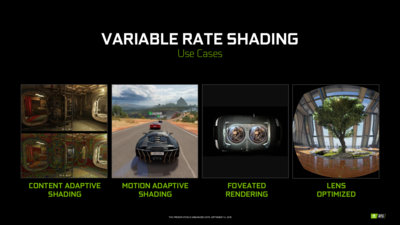 NVIDIA Turing Variable Rate Shading VRS