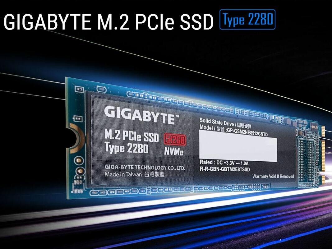 Gigabyte lance un SSD M.2 PCIe (NVMe) de 512 Go qui se veut « abordable », mais la concurrence est rude