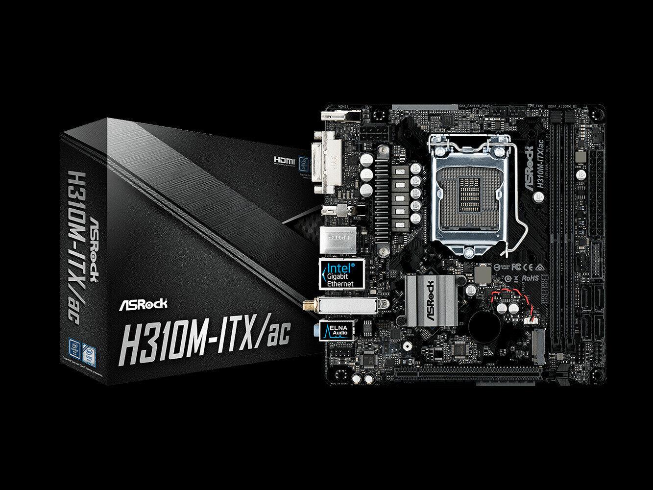 Carte mère H310M-ITX/ac d'ASRock : prix et taille mini, avec du Wi-Fi