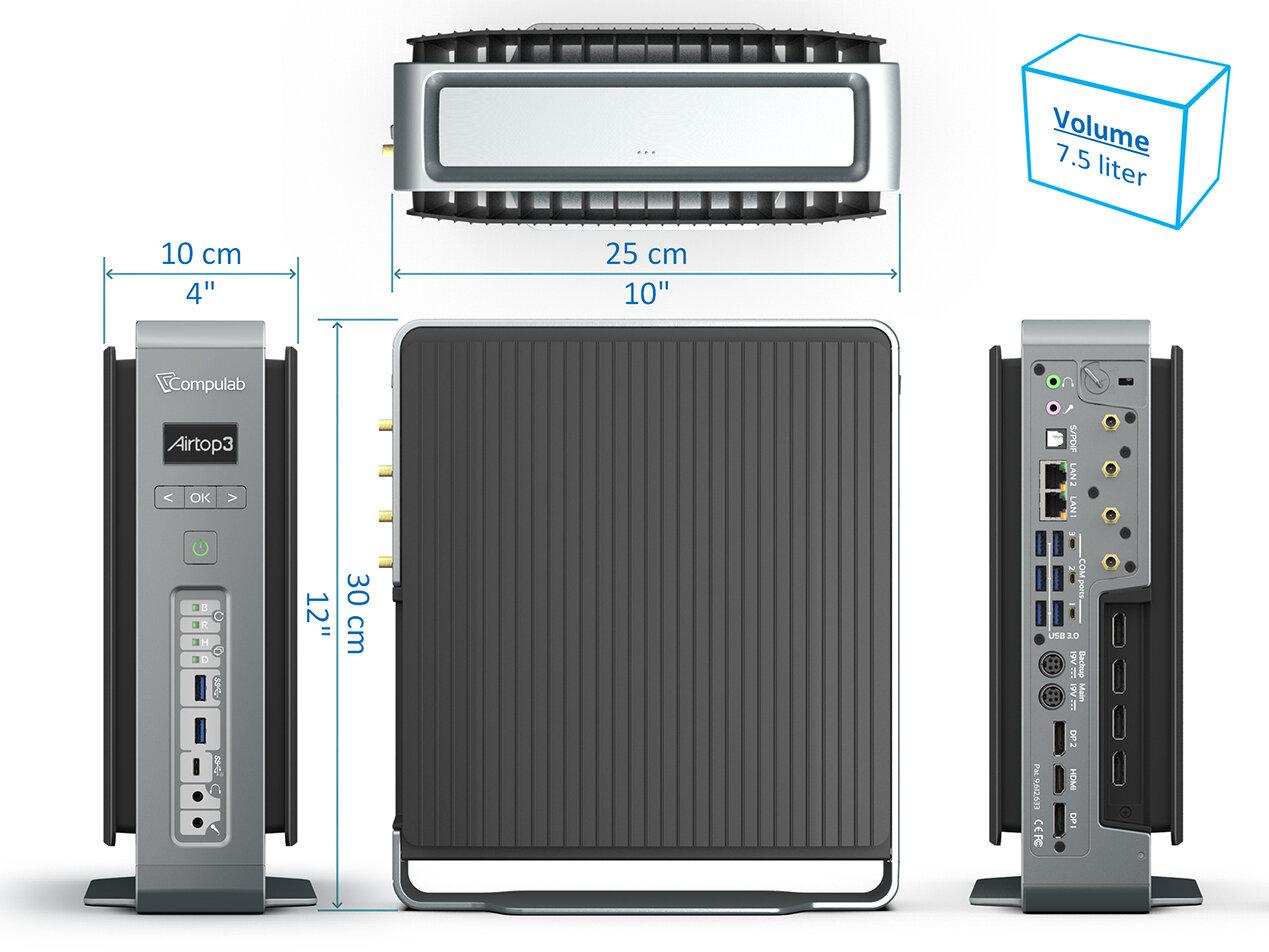 Airtop3 : Compulab promet une Core i9 et une Quadro RTX dans un mini PC passif