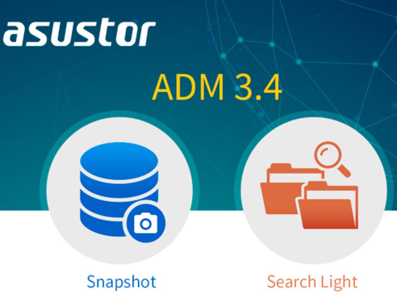 ADM 3.4 disponible pour les NAS Asustor, avec des améliorations pour Btrfs et Searchlight