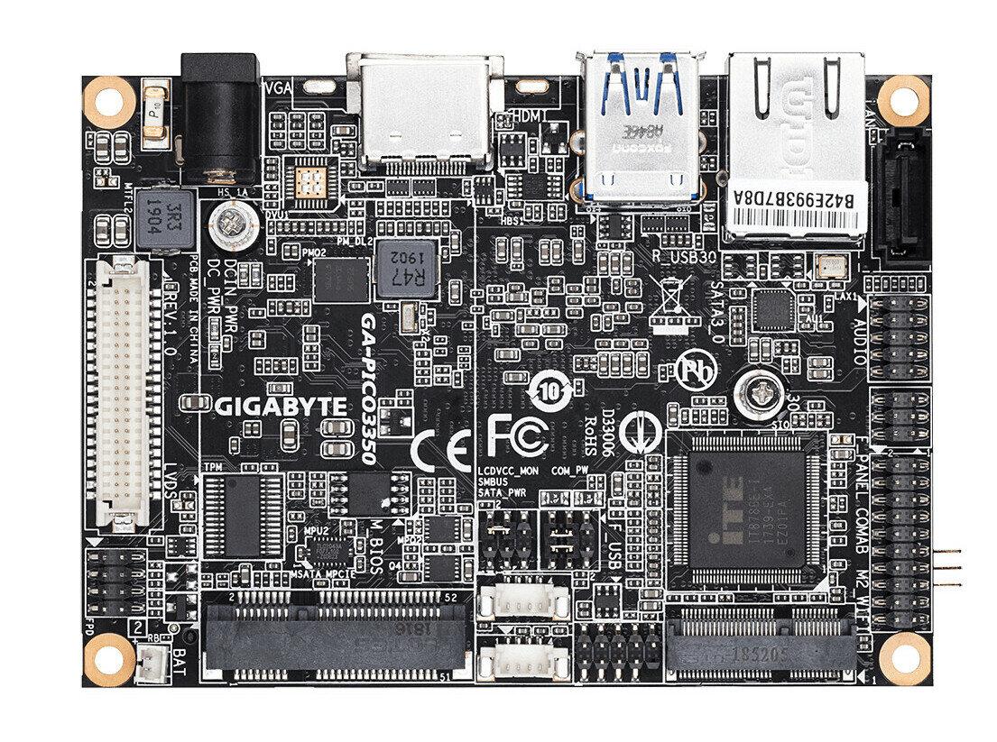 Gigabyte GA-PICO3350 : une carte mère Pico ITX intégrant un processeur Apollo Lake d'Intel