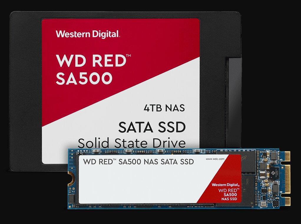 Western Digital lance des SSD SA500 Red pensés pour les NAS, les HDD Red passent à 14 To