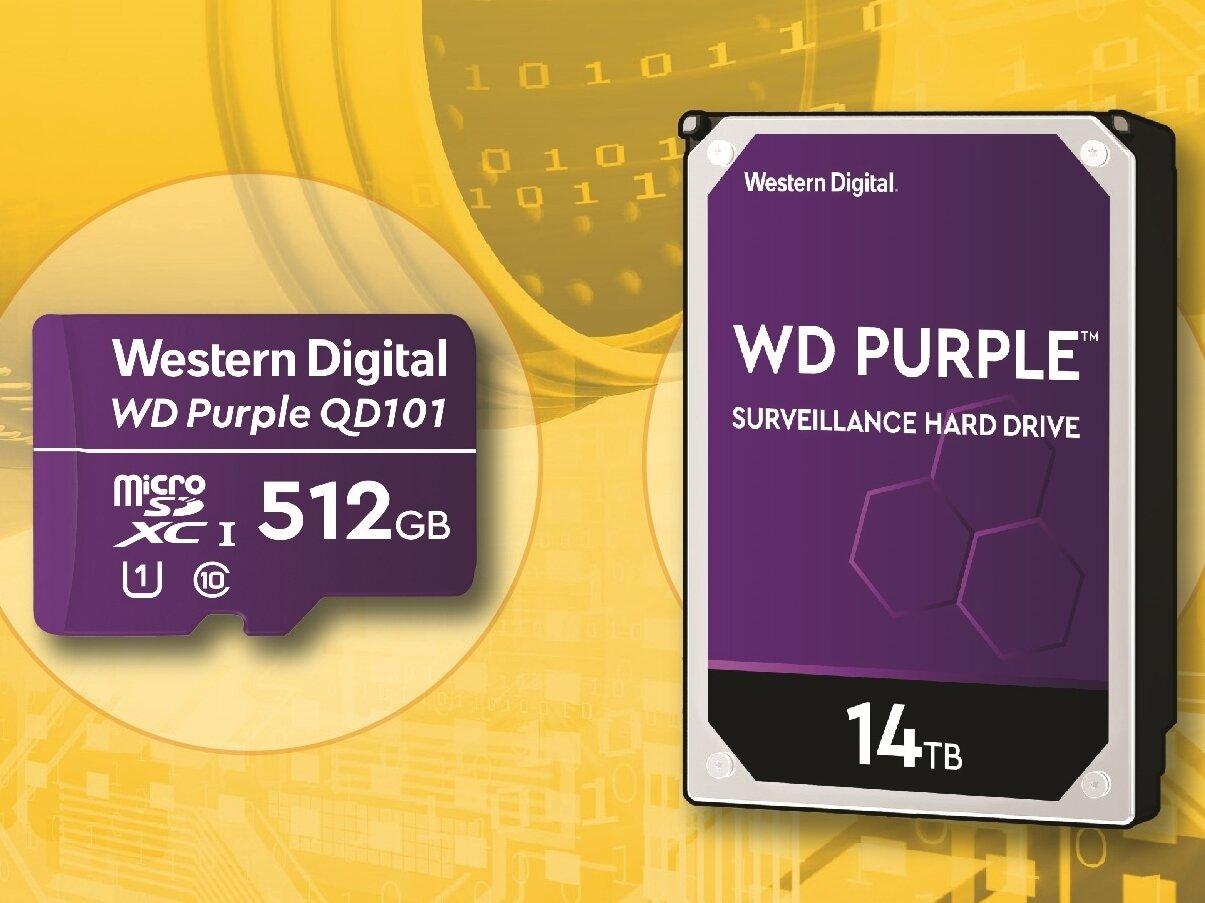 Western Digital Purple pour la vidéosurveillance : HDD de 14 To et microSD SC QD101 « Ultra Endurance »