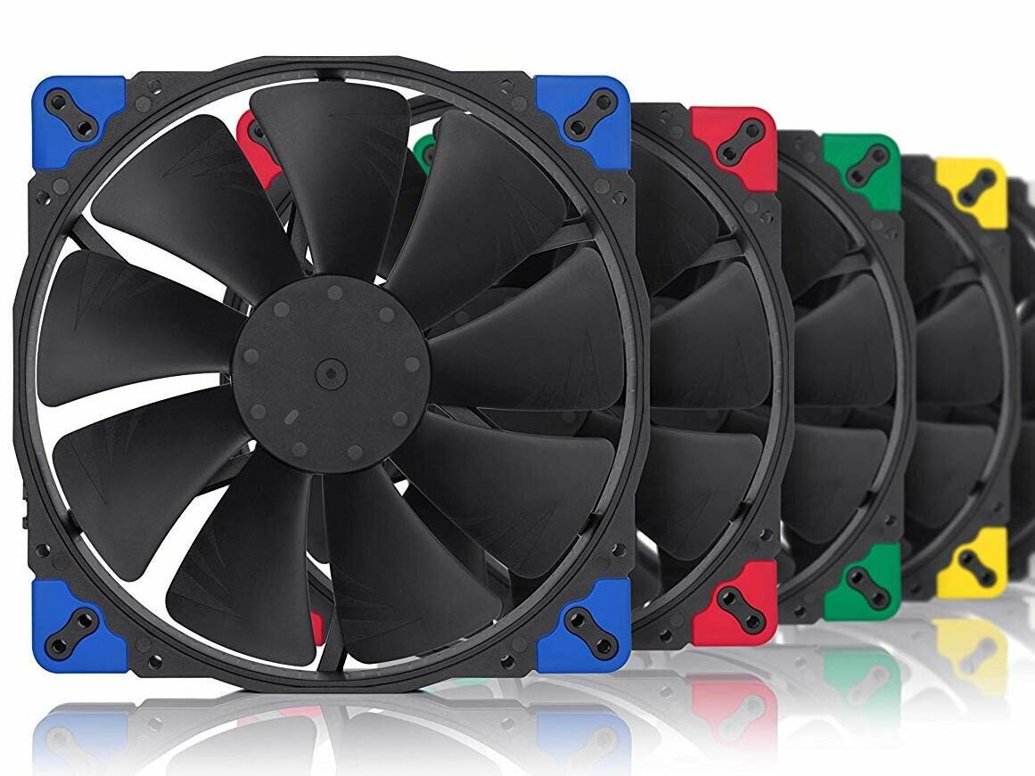 Cinq nouveaux ventilateurs Chromax (noirs) chez Noctua, de 8 à 20 cm