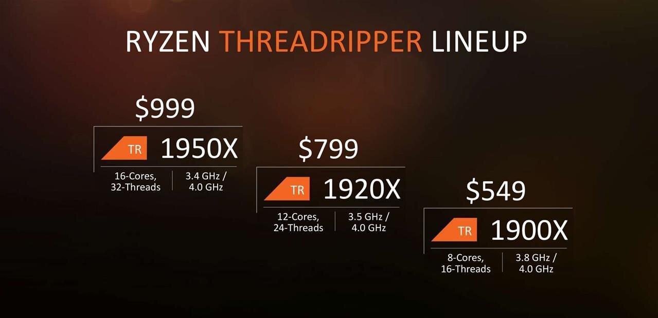 Les Ryzen Threadripper d'AMD en précommande, dès 880 euros