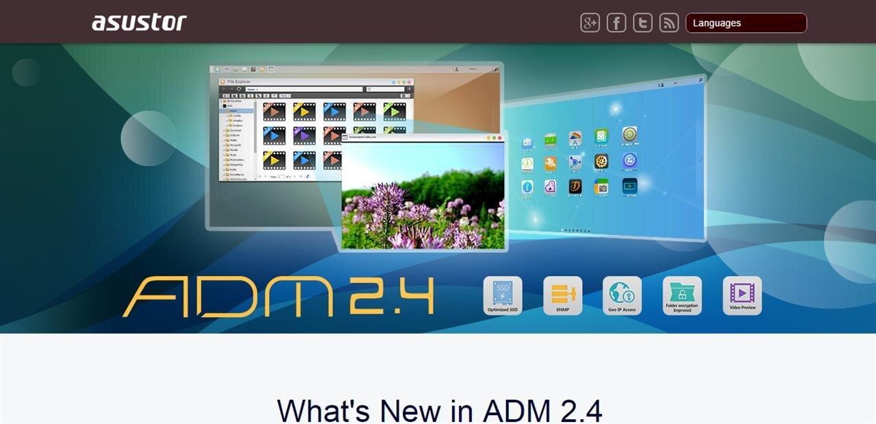 L'ADM 2.4 est disponible pour tous les NAS Asustor