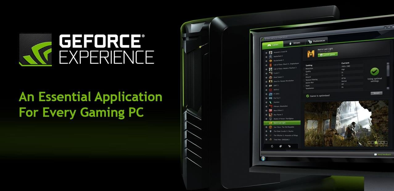 GeForce Experience : streaming YouTube Gaming et Twitch en 1080p60, streaming local en 4K