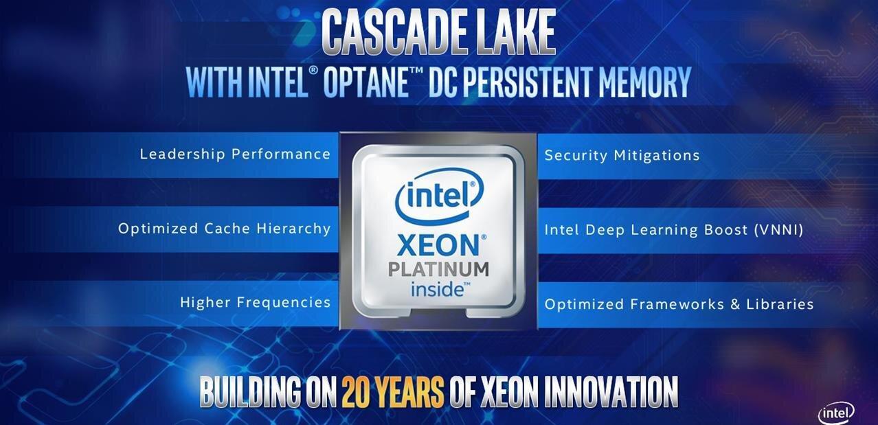 Intel : Xeon E-2100, Multi-Chip Package et Cascade Lake jusqu'à 48 cœurs pour répondre à AMD