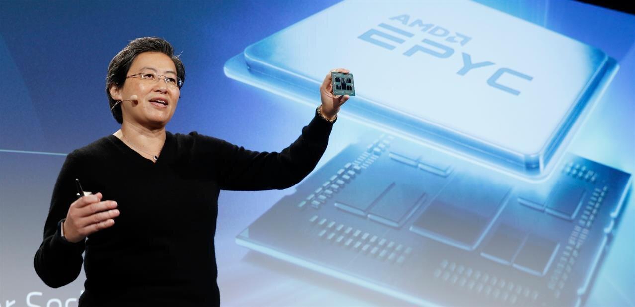 AMD dévoile sa nouvelle gamme EPYC : le modèle 7742 (64 cœurs) à 6 950 dollars « seulement »