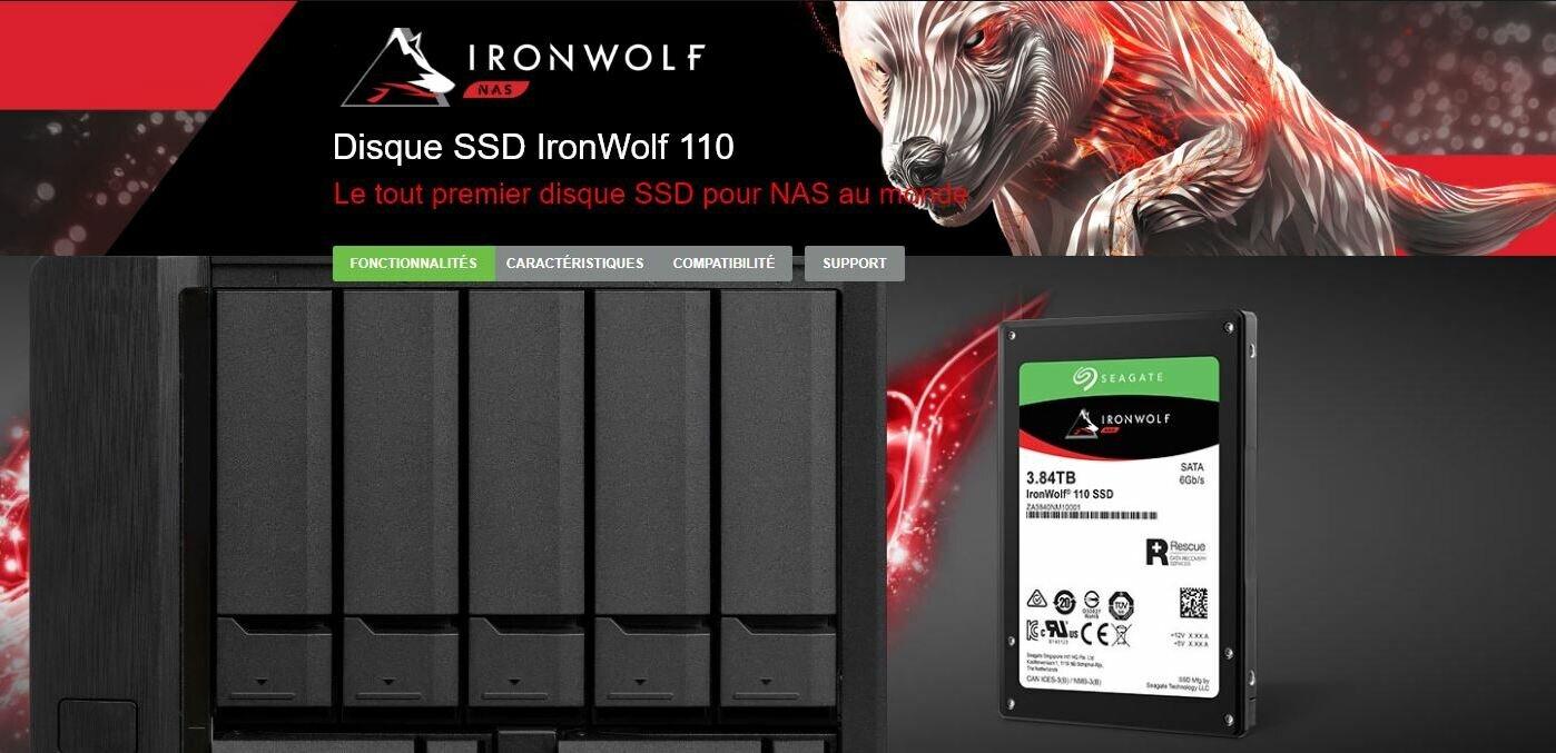 Seagate IronWolf 110 : « les premiers SSD pour NAS au monde », jusqu'à 7 000 To d'endurance en écriture