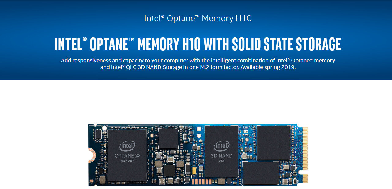 Intel Optane Memory H10 hybride, Toshiba BG4 : le stockage continue sa révolution