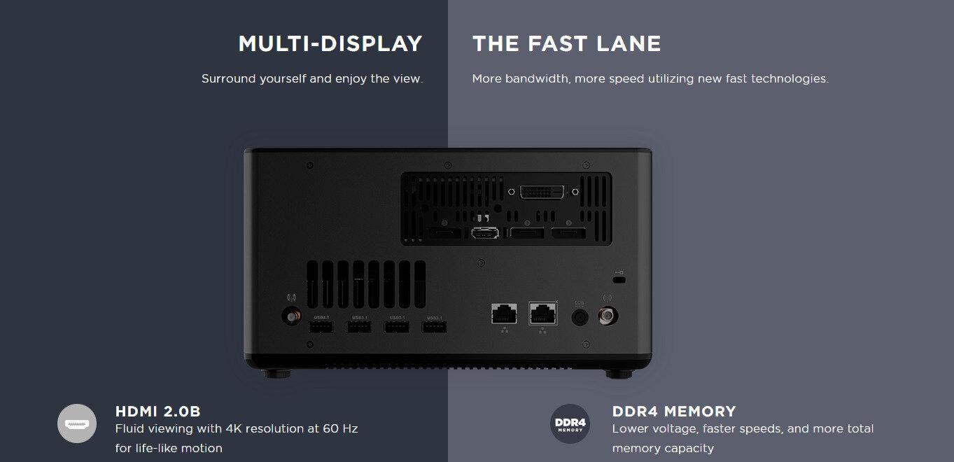 Zotac place une carte d'acquisition (MI553B) ou une RTX 2070 (EC52070D) dans ses mini PC