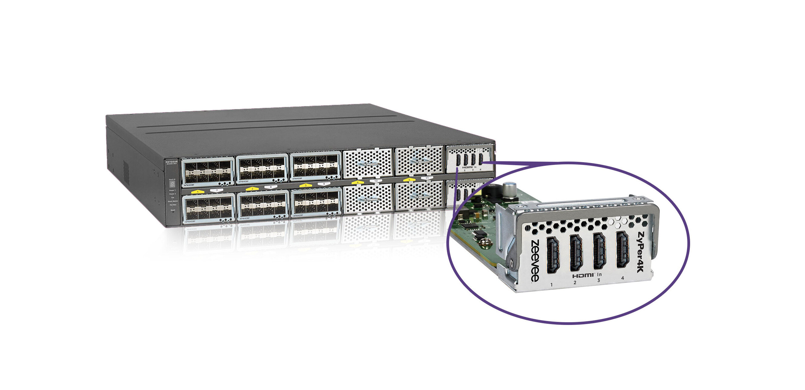 SDVoE : ZeeVee intègre des ports HDMI à un switch 10 Gb/s Netgear