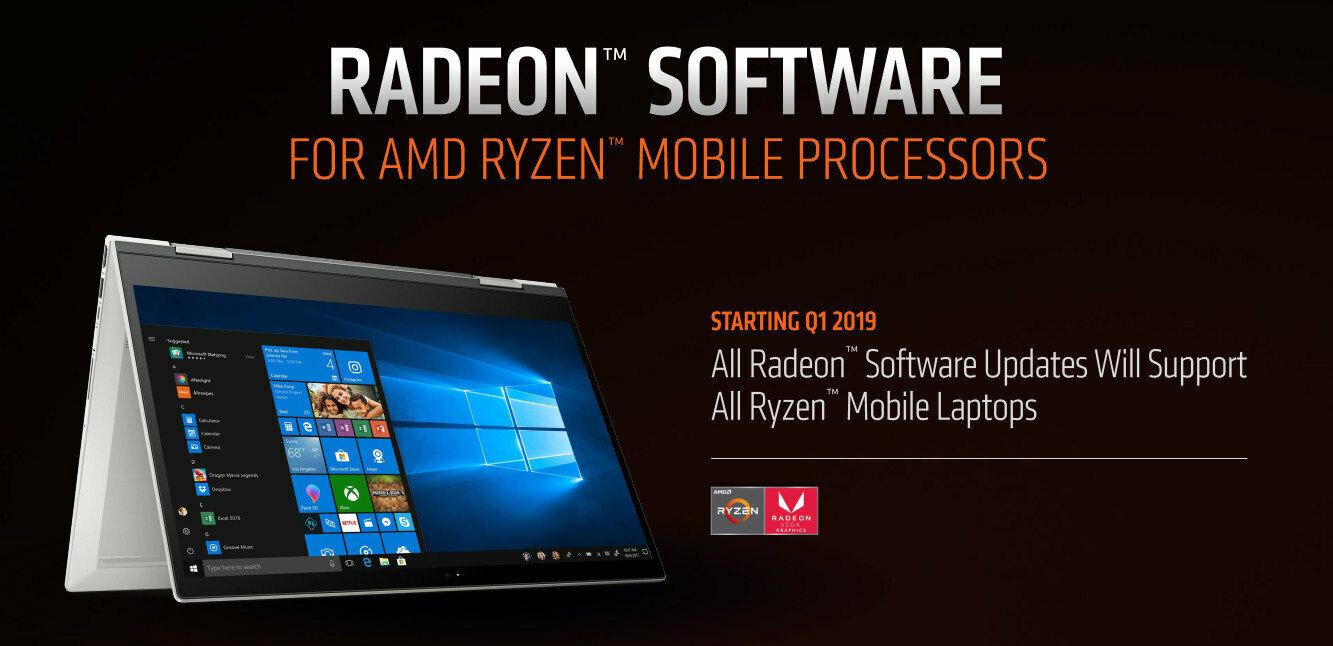 Les pilotes Adrenalin 19.2.3 d'AMD gèrent désormais les APU mobiles