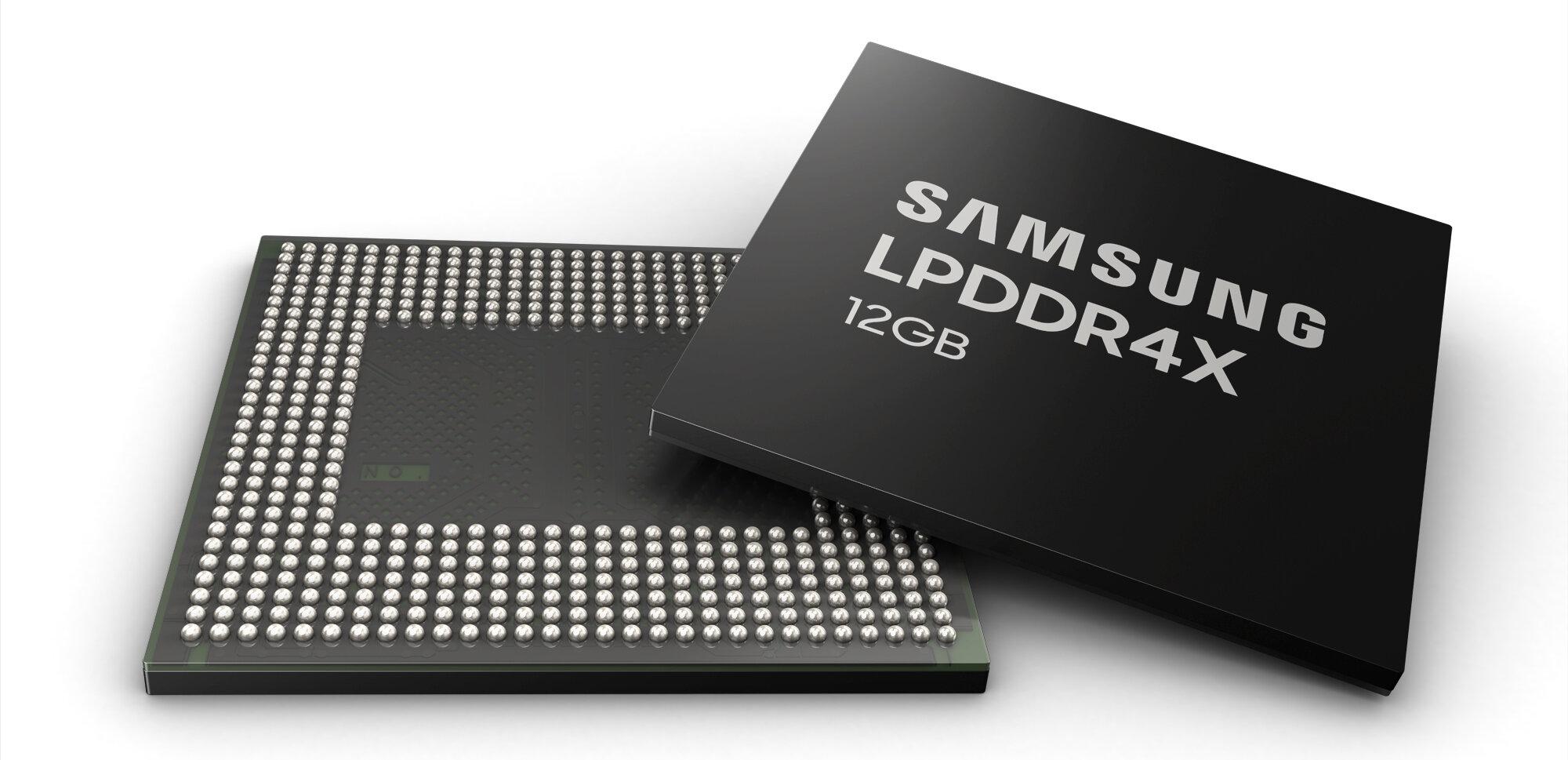 Samsung produit ses puces de LPDDR4X de 12 Go en masse