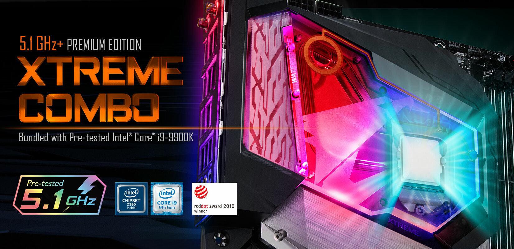 Z390 Aorus Xtreme WaterForce 5G : Gigabyte promet 5,1 GHz sur tous les cœurs d'un Core i9-9900K
