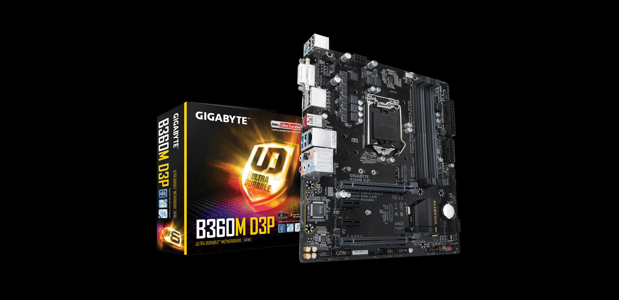 Carte mère B360M D3P de Gigabyte : le bon compromis, pour 90 euros