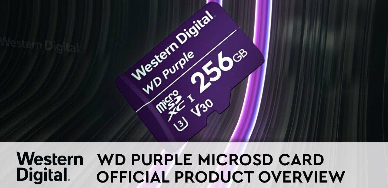 Vidéosurveillance : Western Digital triple l'endurance de ses cartes microSD Purple