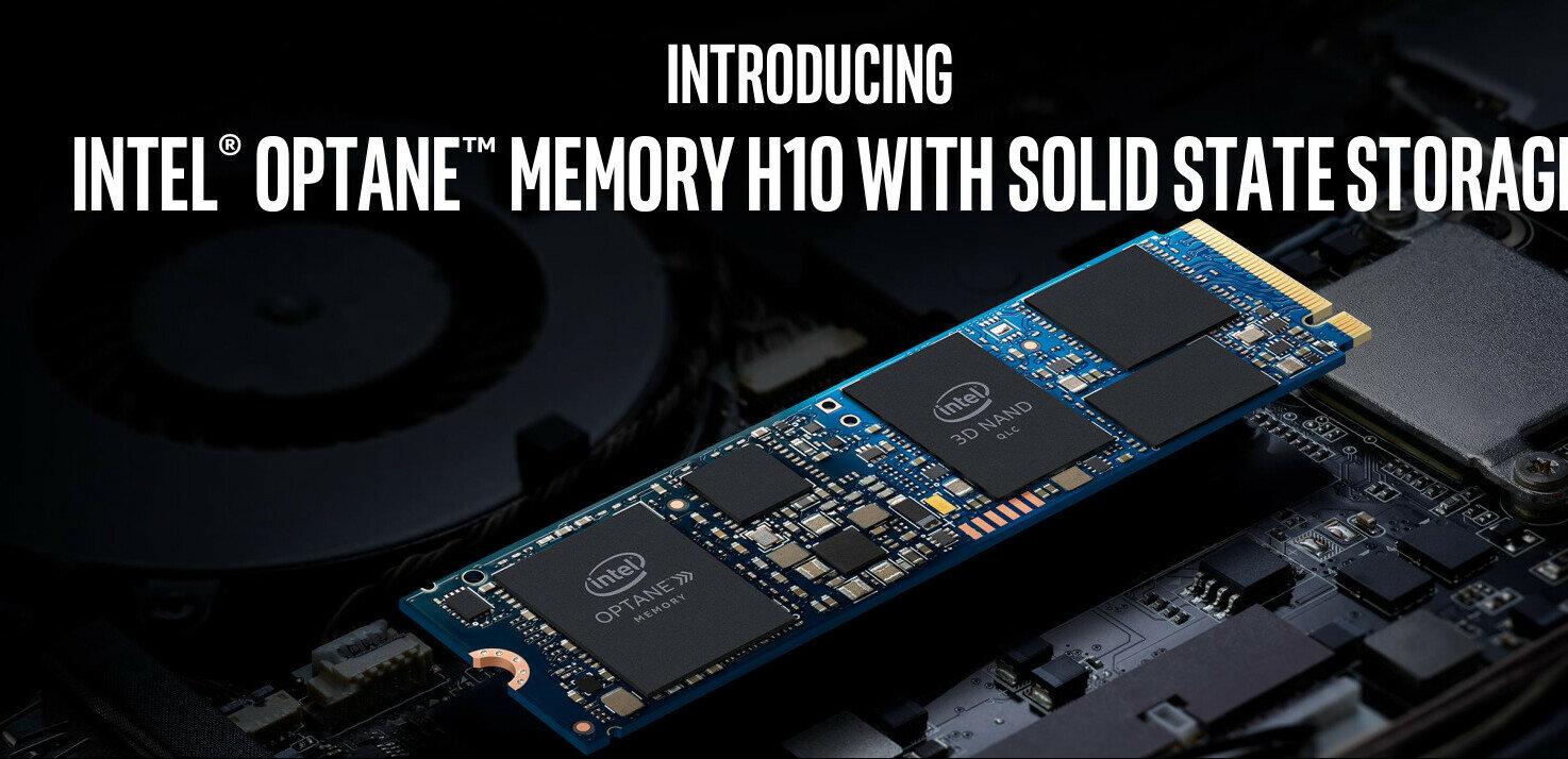 Intel en dit plus sur son module M.2 H10 : SSD QLC + Optane, à minima