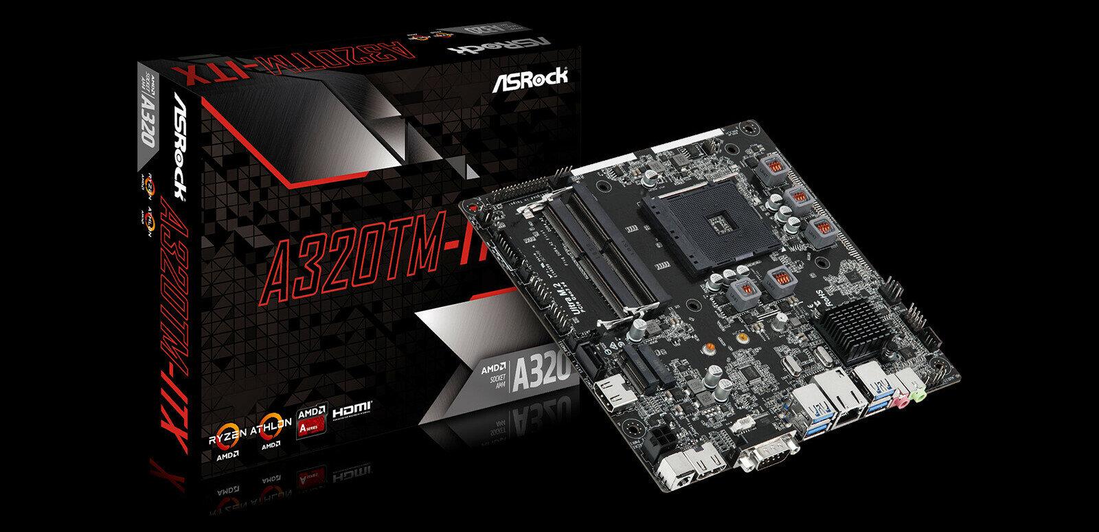 A320TM-ITX : ASRock dévoile une carte mère AM4 au format Thin Mini-ITX