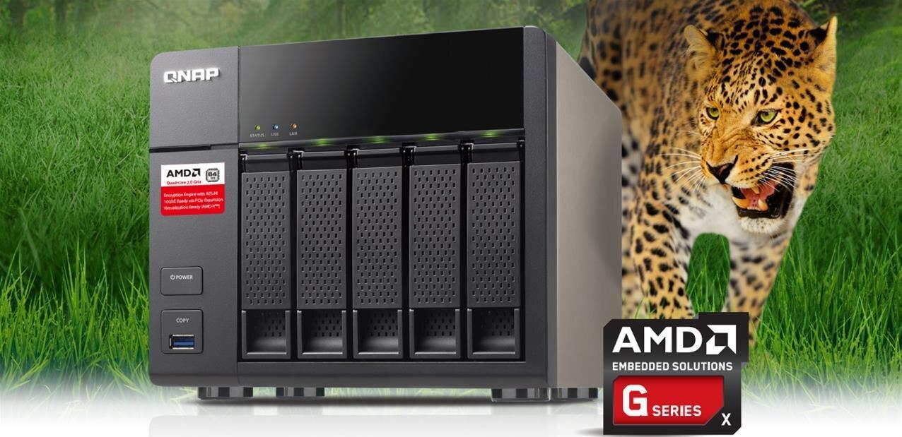 NAS QNAP TS-563 : 5 baies, SoC AMD et plus de 400 Mo/s avec des données chiffrées