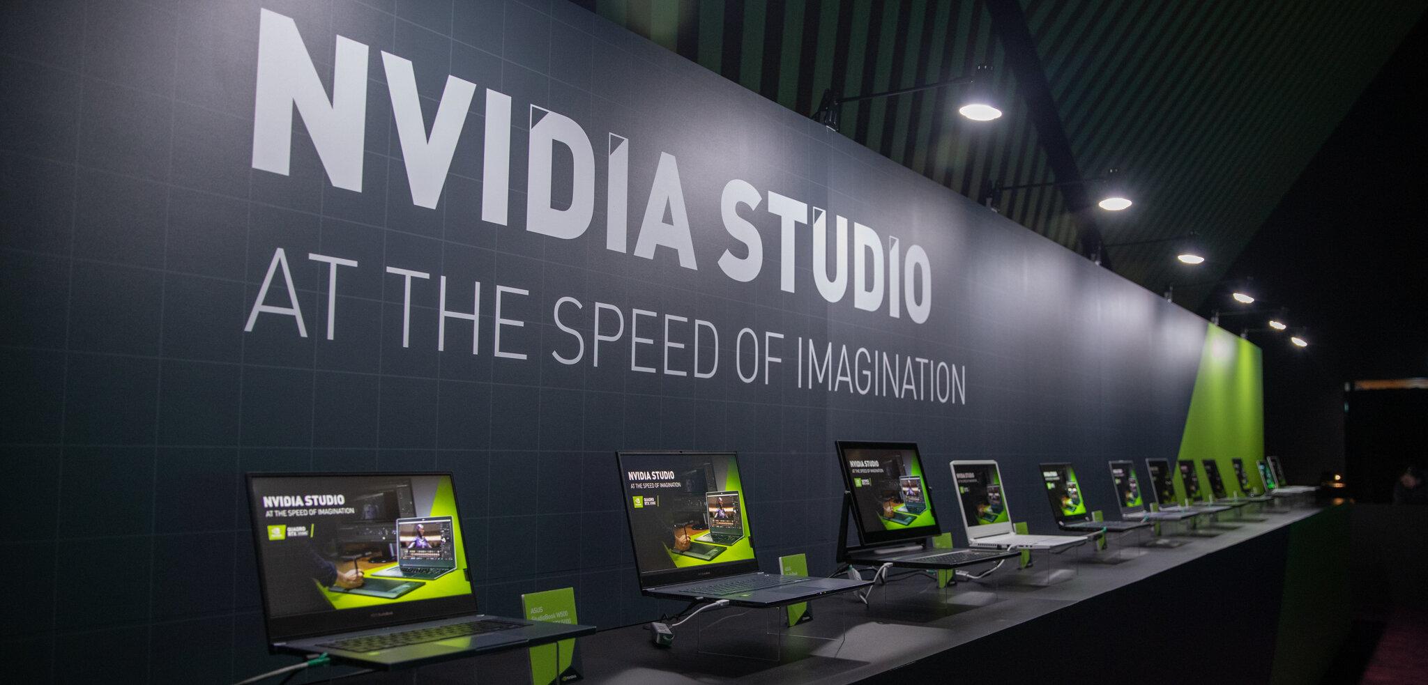 NVIDIA RTX Studio : nouveaux pilotes, PC portables et applications compatibles