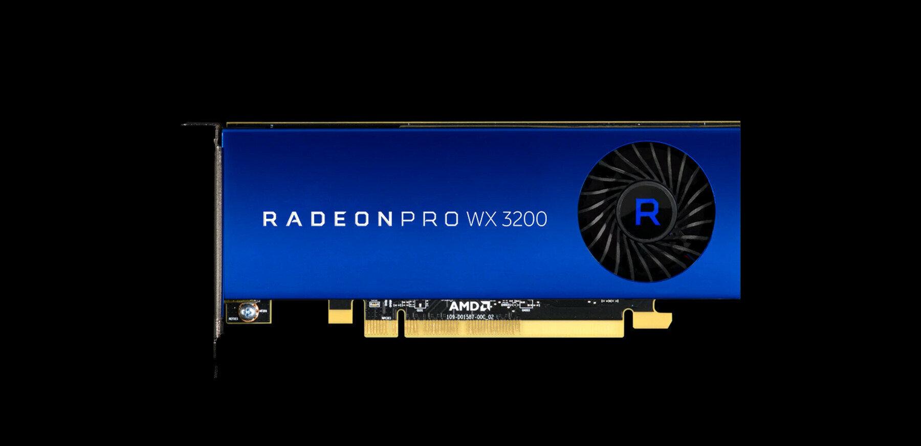 AMD annonce sa Radeon Pro WX 3200 « low profile » à 199 dollars, basée sur Polaris
