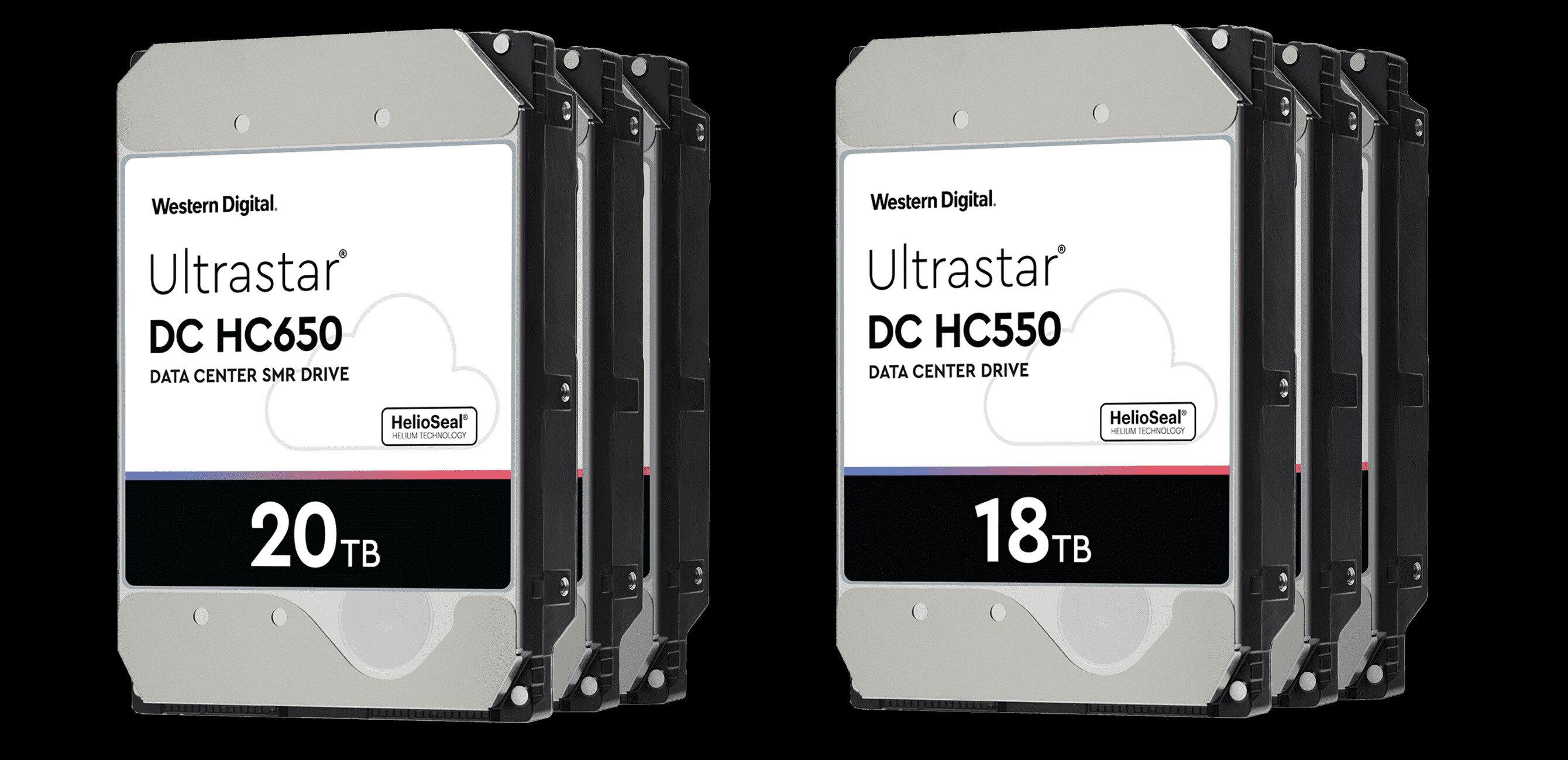 Western Digital : des HDD Ultrastar de 18 To (CMR) et de 20 To (SMR) d'ici la fin de l'année