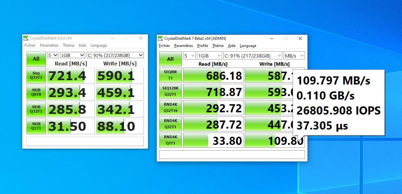 CrystalDiskMark 7.0 arrive avec de nouveaux tests et profils