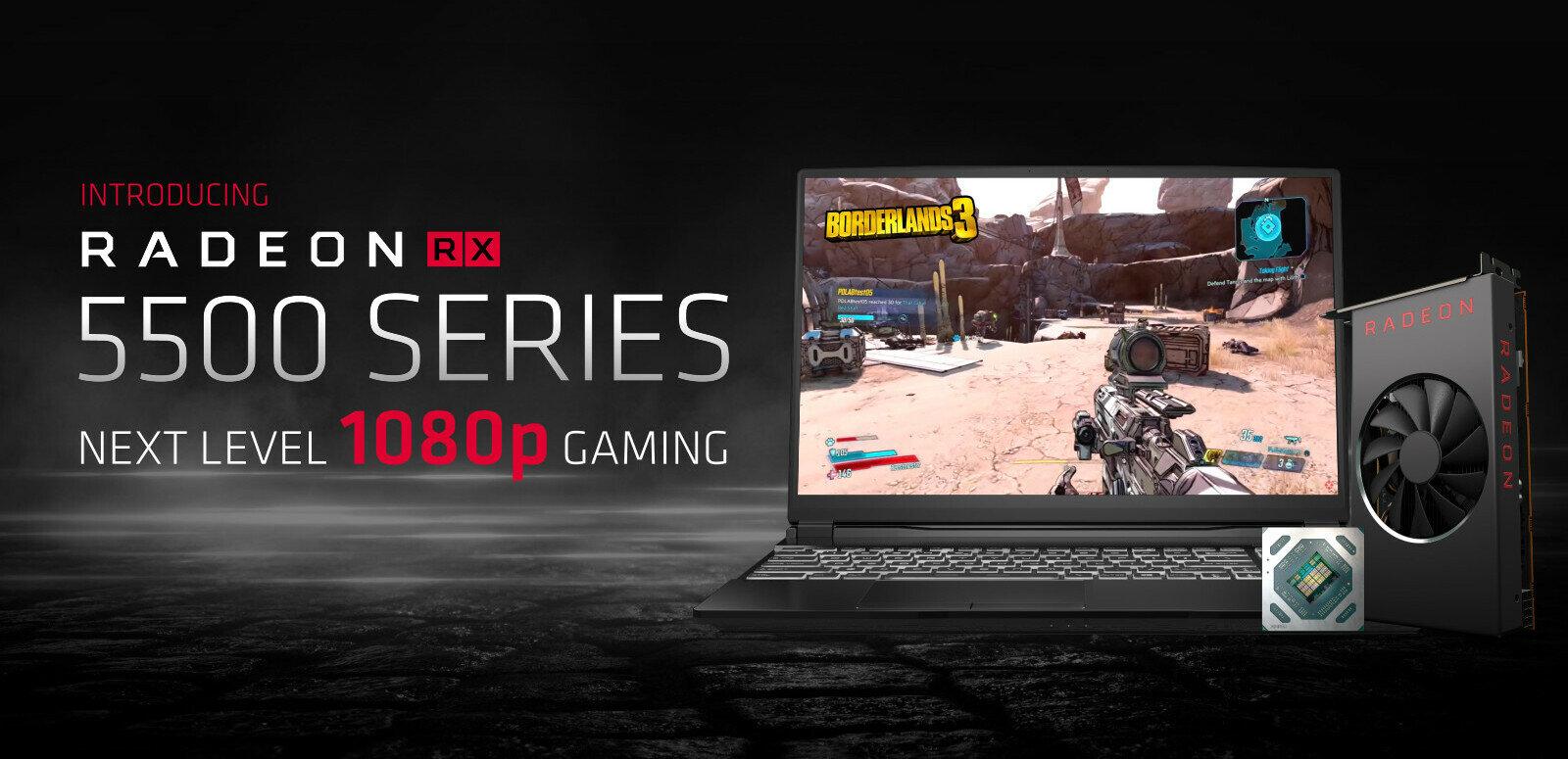 AMD annonce sa Radeon RX 5500 en 7 nm (Navi), d'abord pour les OEM