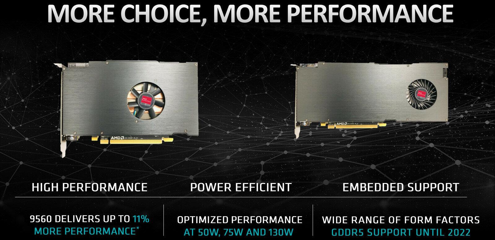 AMD dévoile deux « nouvelles » Radeon E9000 destinées au monde de l'embarqué