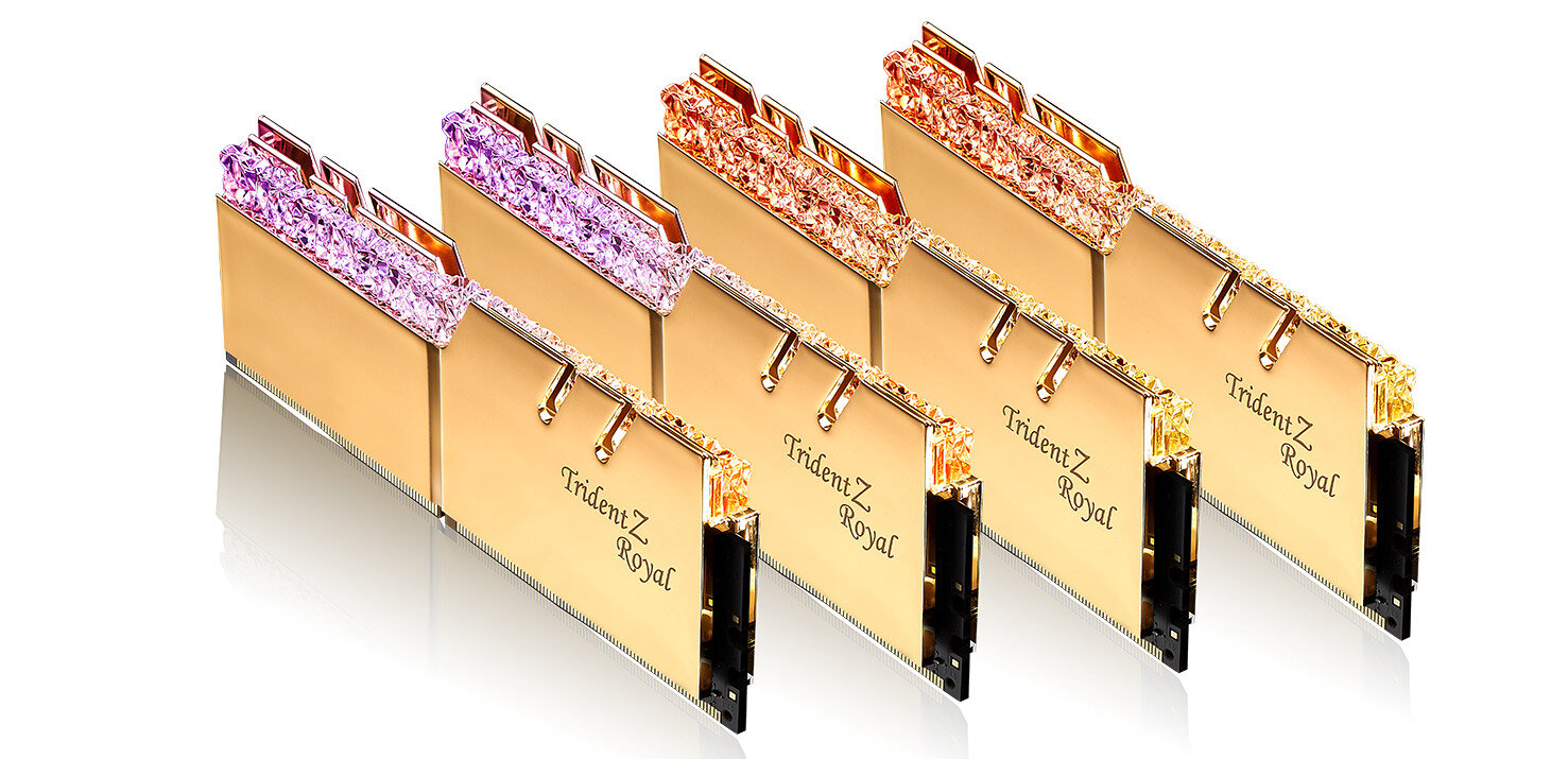 G.Skill annonce un kit de 32 Go (4x 8 Go) de DDR4-4000 en CL15