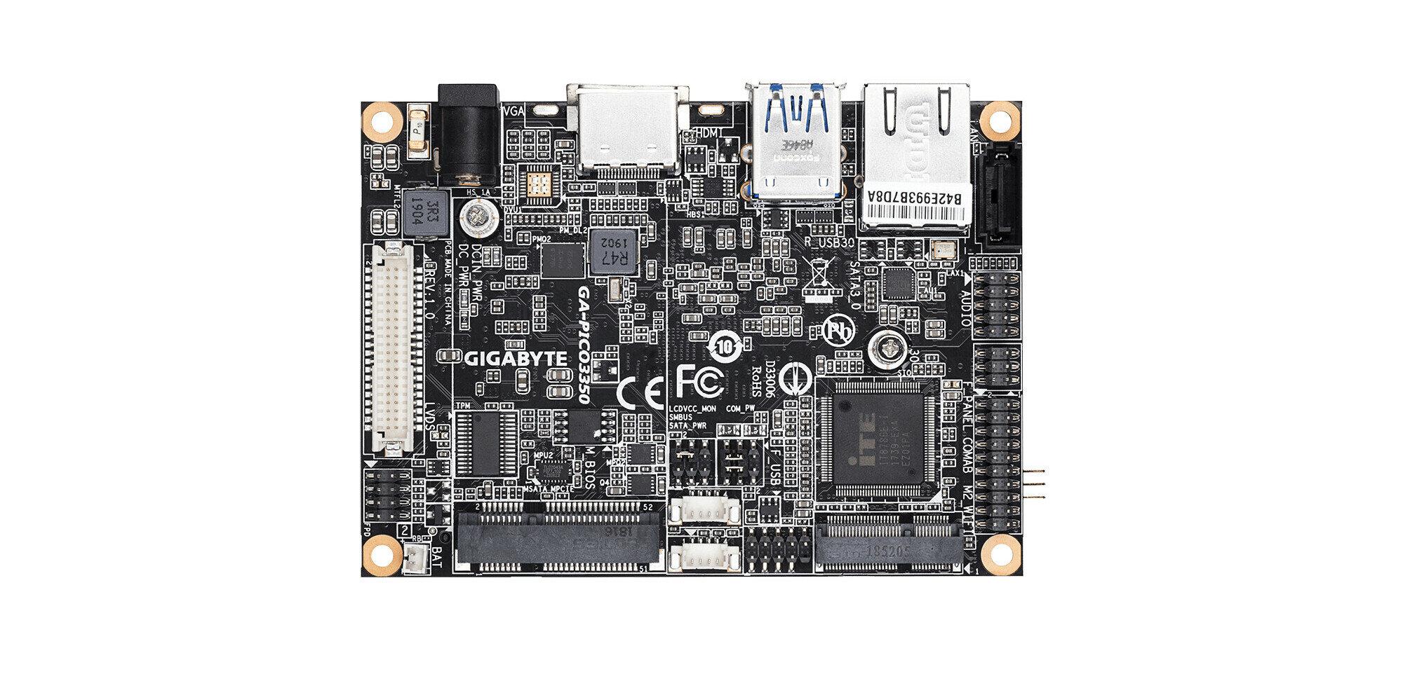Gigabyte GA-PICO3350 : une carte mère Pico ITX intégrant un processeur Apollo Lake d'Intel #IH