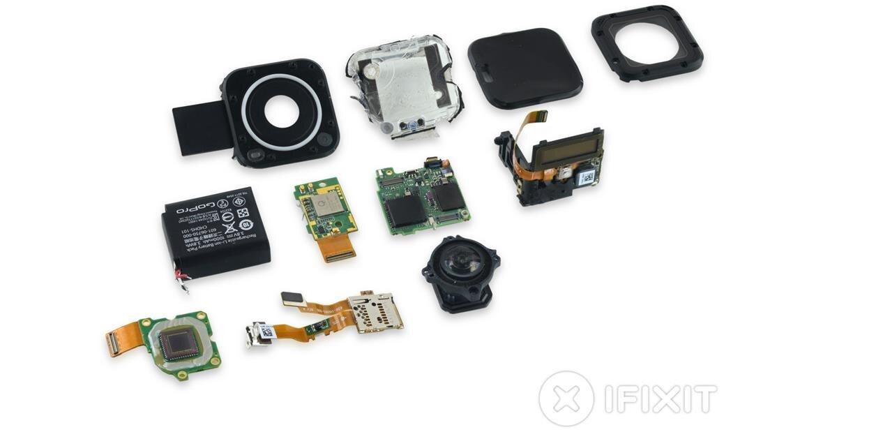 Mise à nu de la GoPro Hero4 Session et de l'iPod Touch de 6e génération