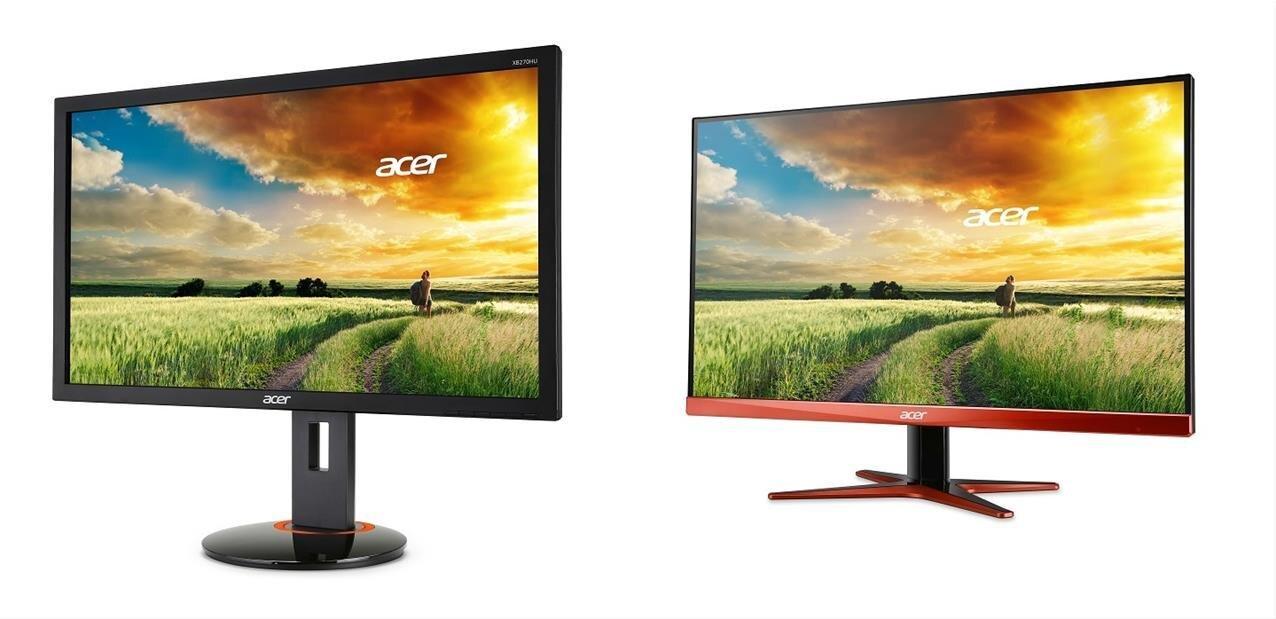 """Acer vise les joueurs avec deux écrans de 27"""" à 144 Hz, dont un G-Sync IPS"""